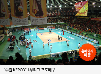 수원 KEPCO 1부리그 프로배구 (http://cyber.kepco.co.kr/kepco/SP/A/main/volley.do?menuCd=FN1104)